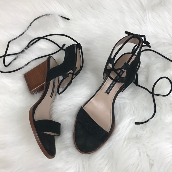 9a417ad02a96 French Connection Shoes - French Connection Black Jalena Lace Up Sandals